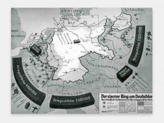 Source: Propaganda Maps: the Big Lie and the Surrounding Threat to Germany,  JF Ptak Science Books (1927)