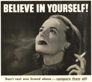 Detail van een Philip Morrisreclame uit de jaren veertig. Beeld: Hollandse Hoogte