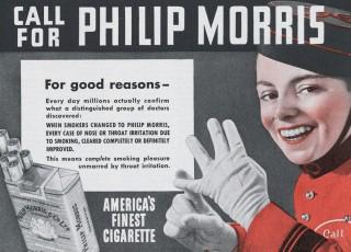 Reclame van Philip Morris uit de jaren vijftig. Beeld: Hollandse Hoogte