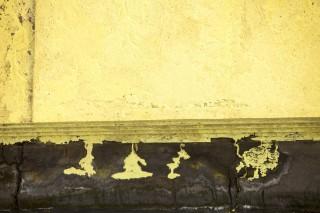 Uit ruwe bitumen moet zwavel worden onttrokken, wat vervolgens als grote bergen wordt opgeslagen bij Fort McMurray. Foto: Hollandse Hoogte