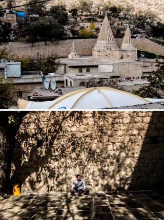 De tempel in Lalish (Noord-Irak), het Heilige der Heiligen van de yezidi's. Foto's: Andreas Stahl