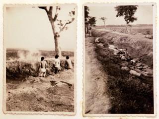 Foto's van een executie in voormalig Nederlands-Indië, uit een fotoboek dat in 2012 werd gevonden in een vuilcontainer. De foto's komen uit het privé-album van een soldaat uit Enschede die in 1947 werd uitgezonden. Foto: Vincent Jannink/ANP