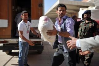 Op 29 februari 2012 onderschepten de autoriteiten in Jemen een partij van zo'n 4,6 miljoen Captagonpillen die vanuit Pakistan op weg was naar Saoedi-Arabië. Foto: Yahya Arhab/ANP