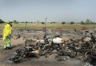 Maiduguri in Nigeria na een aanslag van Boko Haram in juni 2011. Foto: ANP