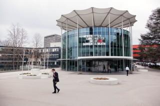Het hoofdkantoor van het Internationale Comité van het Rode Kruis (ICRC) in Genève. Foto: Pieter van den Boogert