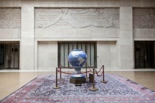 Het Palais des Nations: het hoofdkantoor van de Verenigde Naties in Genève. Hier houdt het Office for the Coordination of Humanitarian Affairs (OCHA) kantoor. Foto: Pieter van den Boogert