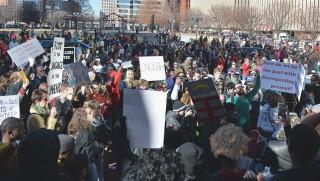 Tijdens de 'reclaim Martin Luther King march', 19 januari 2015. Foto: ANP