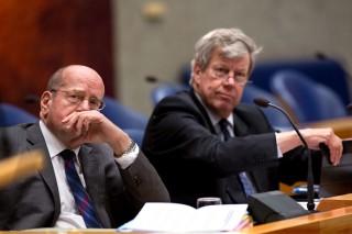 Tijdens het debat in de Tweede Kamer over de begroting van het ministerie van Veiligheid en Justitie op 21 november 2013. Foto: Dirk Hol/ANP
