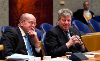 Tijdens het debat in de Tweede Kamer over de begroting van het ministerie van Veiligheid en Justitie op 28 november 2012. Foto: Jerry Lampen/ANP