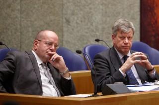 Tijdens het debat in de Tweede Kamer over de begroting van het ministerie van Veiligheid en Justitie op 1 november 2011. Foto: Martijn Beekman/ANP