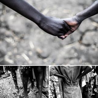 Kinderen in de opvanglocatie van UNICEF, Lekuangule, Jonglei State, Zuid-Soedan. Foto's: Andreas Stahl