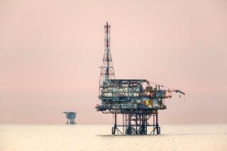 Gaswinning voor de kust van Den Helder. Foto: Frans Lemmens/Hollandse Hoogte