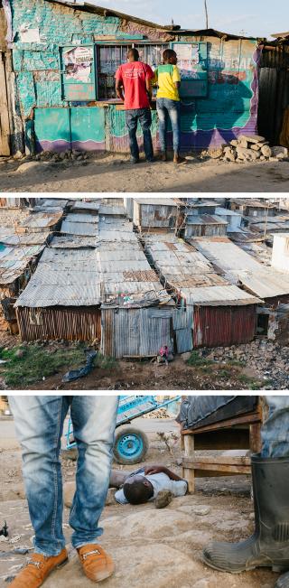 Mathare Valley, Nairobi. Foto's: Michiel Cotterink