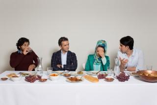Van links naar rechts: Naim Farhoed, Wali Shapour, Zohra Moallemzadeh en Gaibar Hasami. Foto: Heidi de Gier