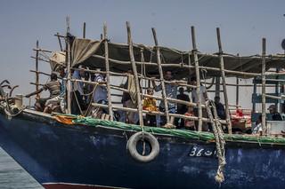 Vluchtelingen uit Jemen komen aan in Djibouti. Foto: Andreas Stahl/AFP