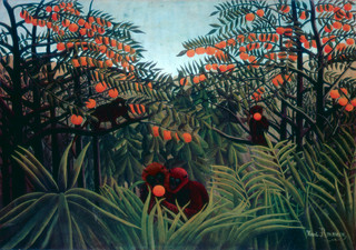 'De tropen' (1910) van de Franse schilder Henri Rousseau.
