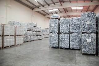 IFRC tarps in the Red Cross storage facility in Dubai. Pieter van den Boogert for The Correspondent