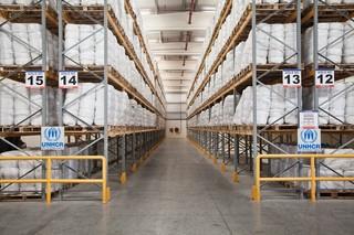 The UNHCR warehouses in Dubai. Pieter van den Boogert for The Correspondent