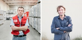 Left: Goran Zuber of the IFRC in Dubai. Right: Julien Chauvelle of Doctors without Borders in Dubai. Pieter van den Boogert for The Correspondent