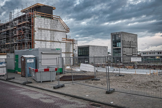 Nieuwe woningen in aanbouw in de Buiksloterham in Amsterdam-Noord. Foto: Patrick Post / Hollandse Hoogte