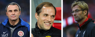 Wolfgang Frank, Thomas Tuchel, Jürgen Klopp. Foto's: Getty