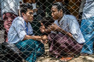 'We zitten gevangen omdat we het systeem willen veranderen. Of dat nou de regering, het leger of het onderwijssysteem is: we zitten vast omdat we verandering willen,' aldus een van de studenten. Foto: Andreas Stahl