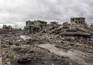 De Syrische stad Kobani in januari 2015. Foto: AP