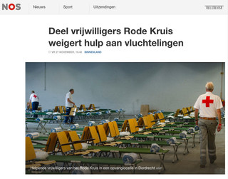Screenshot van de NOS-site.