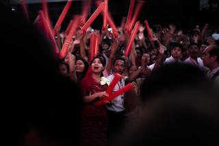 Aanhangers van de NLD vieren de verkiezingsoverwinning. Foto: Andreas Stahl