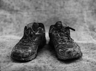 De schoenen van Besh. © Stephan Vanfleteren