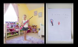 Lily, 6 jaar. Uit de serie 'My First Rifle'. Foto: An-Sofie Kesteleyn