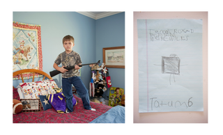 Tatum, 6 jaar. Uit de serie 'My First Rifle'. Foto: An-Sofie Kesteleyn