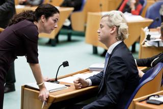 Den Haag, 2010 - Femke Halsema overlegt met PVV leider Geert Wilders. Foto: Martijn Beekman/ANP