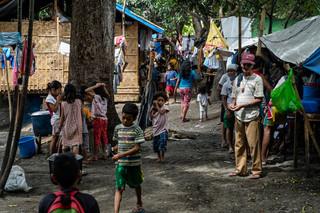 Ruim 700 gevluchte Lumad leven samen in het opvangkamp in de regionale hoofdstad Davao. Foto's: Andreas Stahl