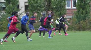 Op La Roue trainen spelers van allemaal verschillende nationaliteiten. Beeld: Bas Rozenbeek
