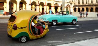 De fietstaxi in Havana. Foto: Federico Cabrera