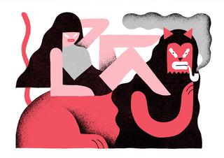 Illustratie van Levi Jacobs, een van de honderd illustratoren die te zien zal zijn in de digitale expositie op de Illustratie Biënnale 2016.