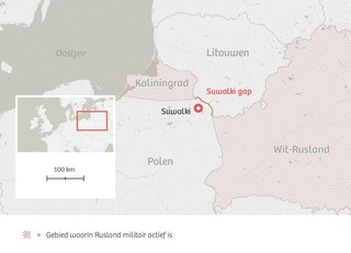 Suwalki Gap. Infographic: De Correspondent