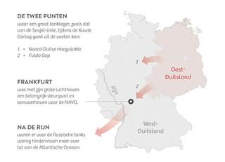 Fulda Gap in 1954-1989. Infographic: De Correspondent