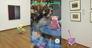 Pokémon in het museum