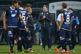 Nagelsmann na de wedstrijd tegen Werder Bremen, zijn eerste wedstrijd als hoofdcoach van Hoffenheim.  Foto: Lars Baron/Getty