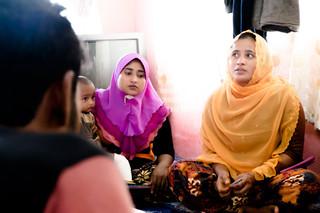 Gevluchte Rohingya's uit Birma en Bangladesh in Alor Setar, Maleisië. De interviews zijn uiteindelijk niet gebruikt in de reportage. Foto: Andreas Stahl