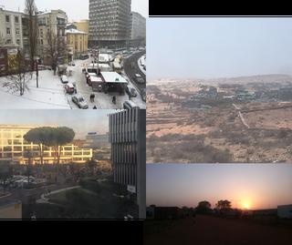 Een greep uit de uitzichten die onze VN-medewerkers op hun werk hebben, als ze uit het raam kijken. De foto's zijn gemaakt door de zeventien dagboekschrijvers uit dit verhaal.