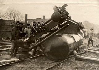 Een spoorwegongeluk bij Rotterdam in 1909. Foto: Spaarnestad Photo / HH