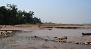 Grasland voor extensieve veeteelt (boven) ligt vlak naast de Surutúrivier (onder). Een van de gevaren van ontbossing is bodemerosie. Foto's: Bart Crezee