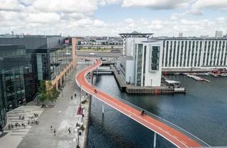 De Cykelslangen-fietsbrug in Kopenhagen