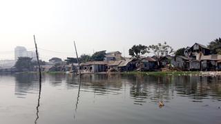 Sloppenwijk in Dhaka, de hoofdstad van Bangladesh.