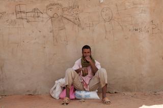 Malinese Toearegvluchteling in Mbera, Mauritanië. (November 2013). Foto's: Andreas Stahl