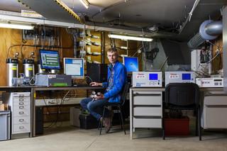 Arjan Hensen, klimaatonderzoeker en meetdeskundige van het ECN. Foto's: Nick van Tiem