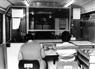 De methadonbus in Amsterdam, oktober 1985. Foto's: ANP